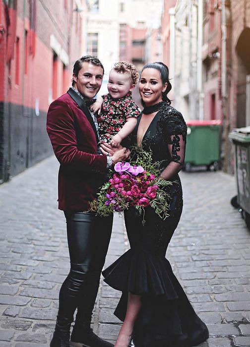 Софи и Джаред в день свадьбы.