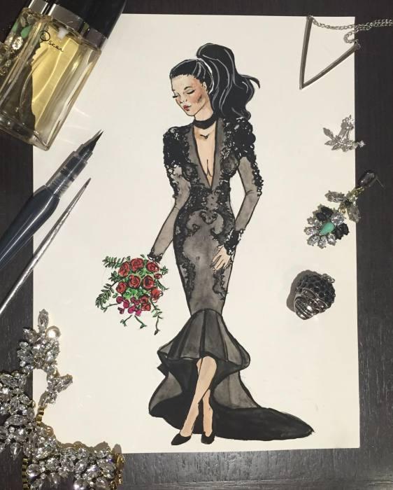 Эскиз свадебного платья Sophie Cachia.