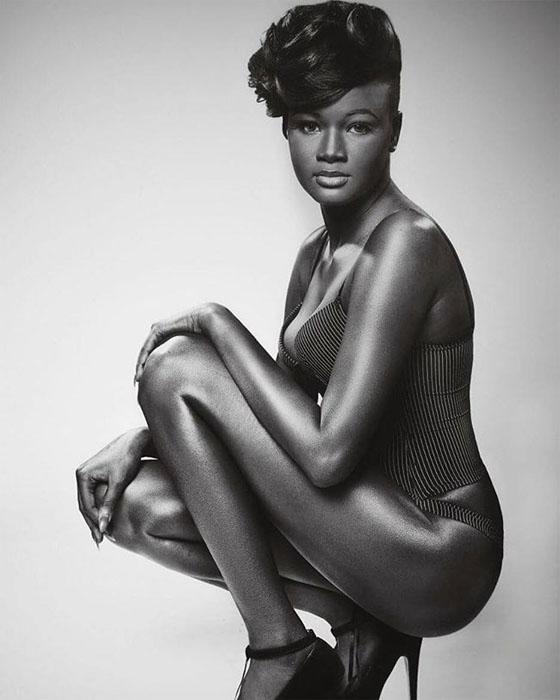 Чернокожая модель - Коудия Диоп.