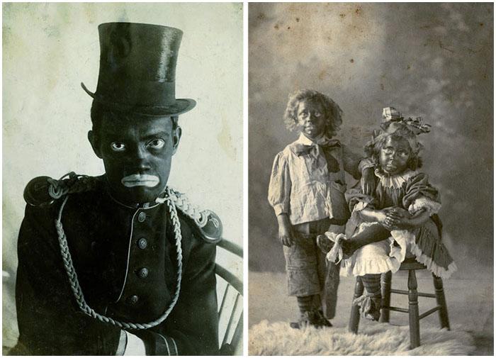 Блэкфейс-грим, популярный в Америке начала ХХ века.