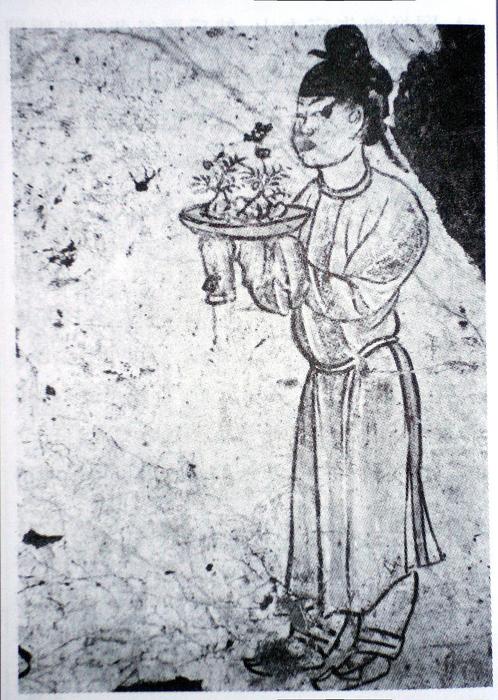 Самое первое изображение бонсай, датируемое 706 годом.