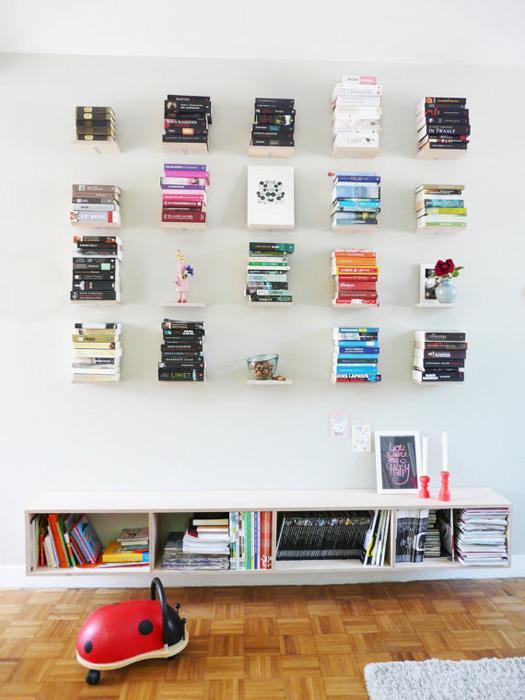 полочки на стену фото для книг