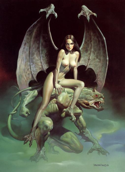 Ангел-пугало. Автор: Boris Vallejo.