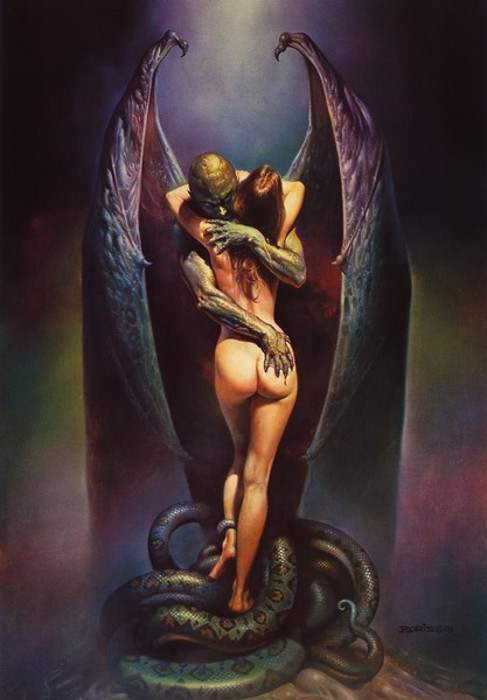 Поцелуй вампира. Автор: Boris Vallejo.