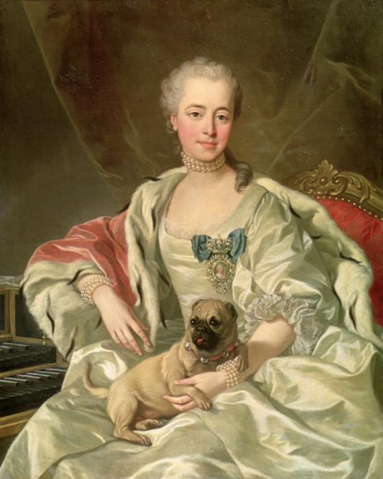 Портрет княгини Екатерины Дмитриевны Голицыной работы Шарля Андре ван Лоо (1759).