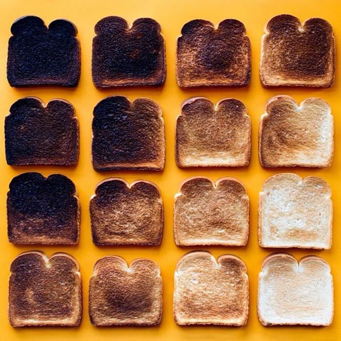 Степень подгорелости тоста.