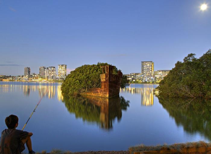 Корабль-сад в Сиднее.