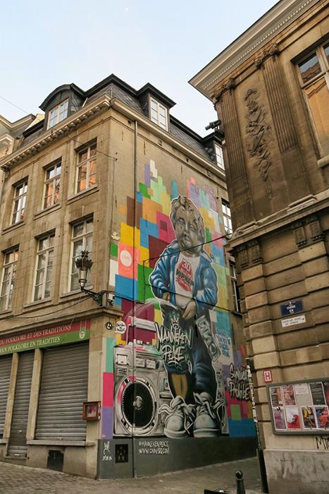 Стрит-арт в Бельгии.