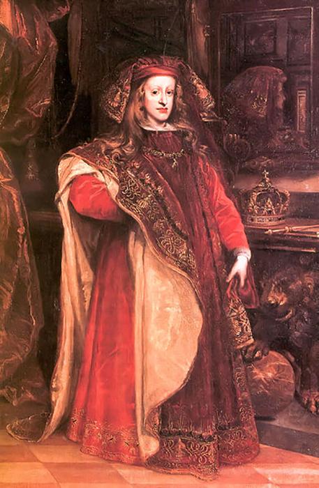 Портрет Карла II, монарха Испании.