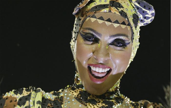 Участница бразильского фестиваля.