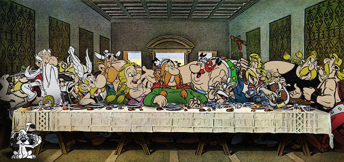 Леонардо Да Винчи *Тайная вечеря*.