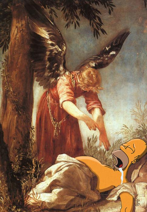 Хуан Антонио Вриас и Эскаланте *Ангел будит пророка Илию в пустоши*.