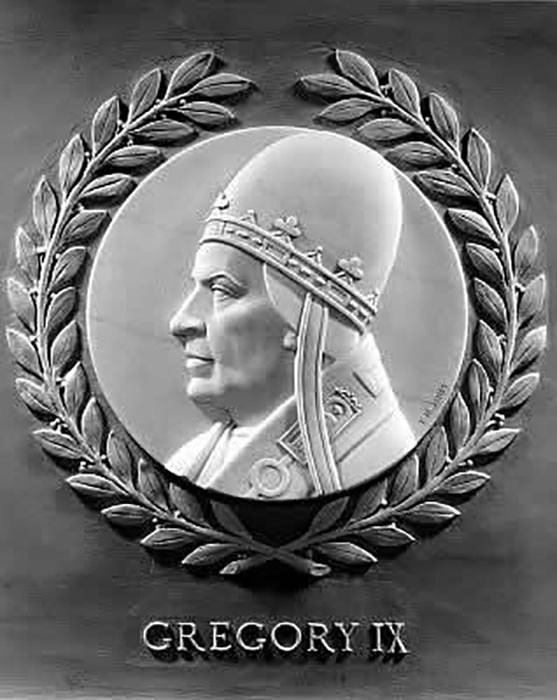Барельеф Григория IX, Палата представителей США.