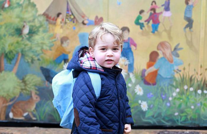 Первый день в садике для маленького Джорджа был в январе 2016 года.