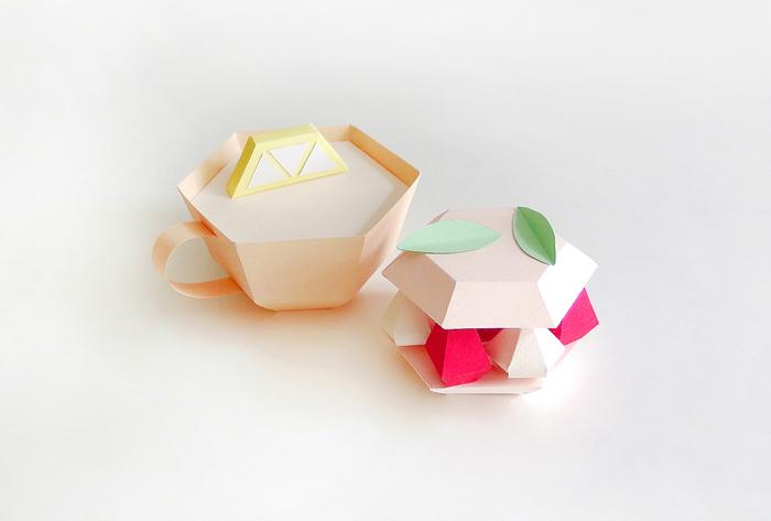 Бумажная еда от французского дизайнера.