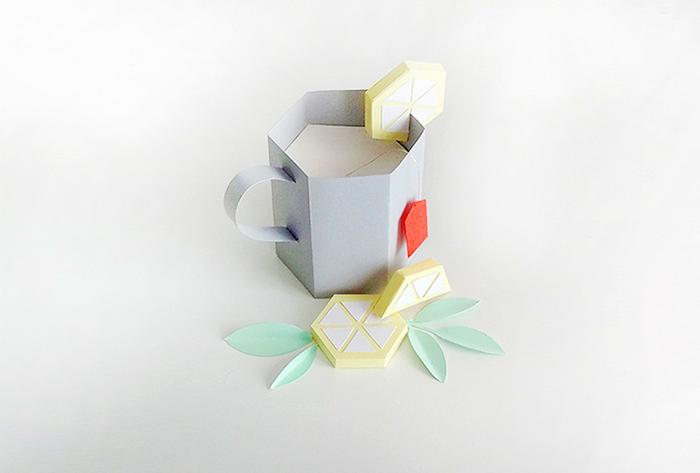 Бумажный чай в бумажной кружке - хенд-мейд скульптуры Шарлотты Смит.