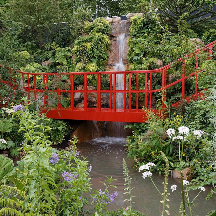 Один из конкурсных садов.