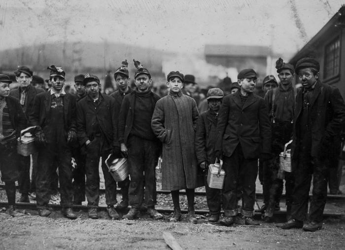 Шахтеры в Нантикоке, Пенсильвания. 1911г.