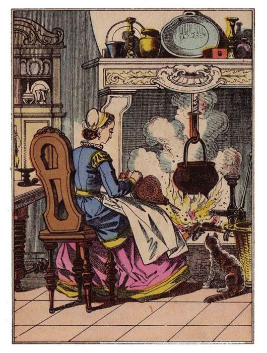 Иллюстрация к французской сказке XIX век.