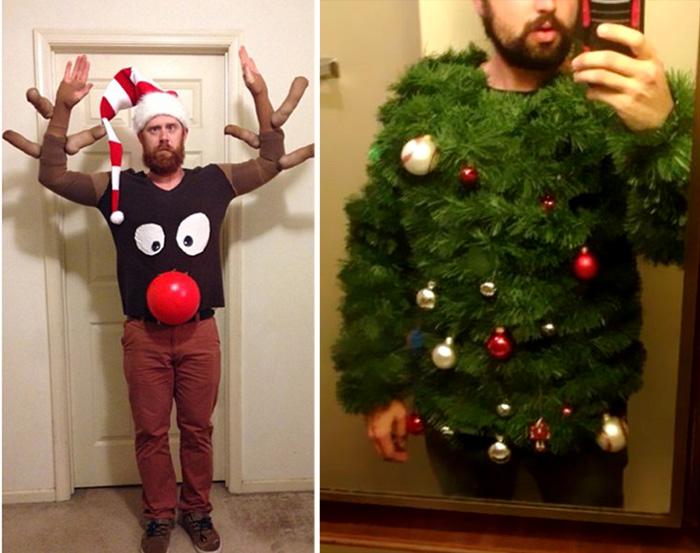 Забавные и курьезные новогодние костюмы.