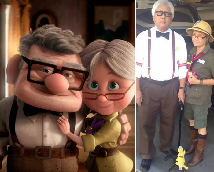 Карл и Элли из мультфильма *Вверх!*