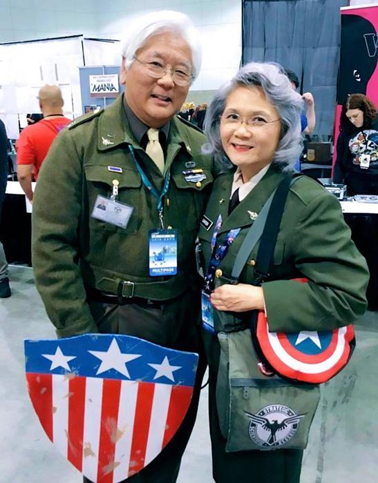 Стив Роджерс и Пегги Картер из *Капитана Америки.*