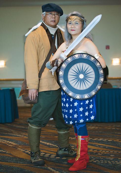 Диана и Стив Тревор из комиксов *Чудо -женщина.*