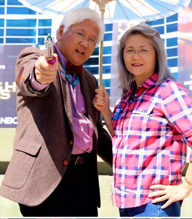 Одиннадцатый Доктор и Эми Понд из сериала *Доктор Кто.*