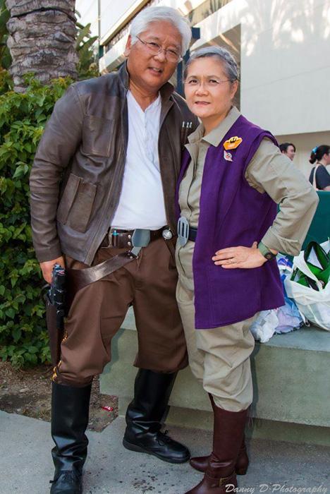 Хан Соло и Лея Органа из *Звездных войн.*