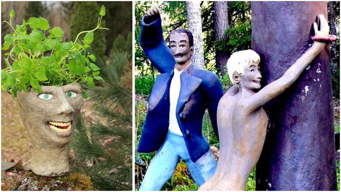 Парк скульптур в Финляндии.