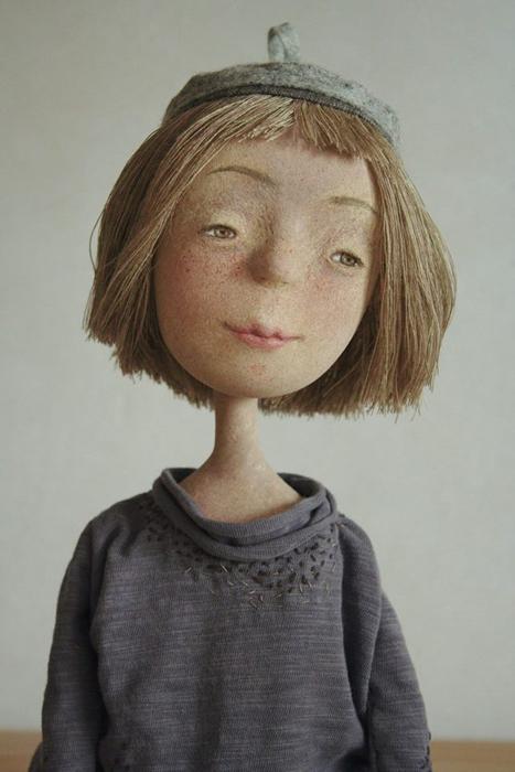 Задумчивая Улла. Авторские куклы Марины Глебовой.