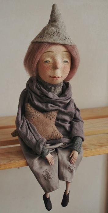 Маленький домашний эльф Метте.  Авторские куклы Марины Глебовой.