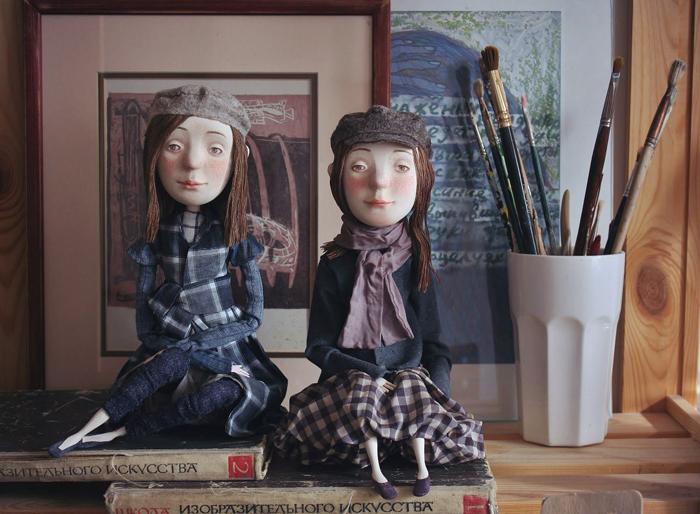 Девочки. Авторские куклы Марины Глебовой.