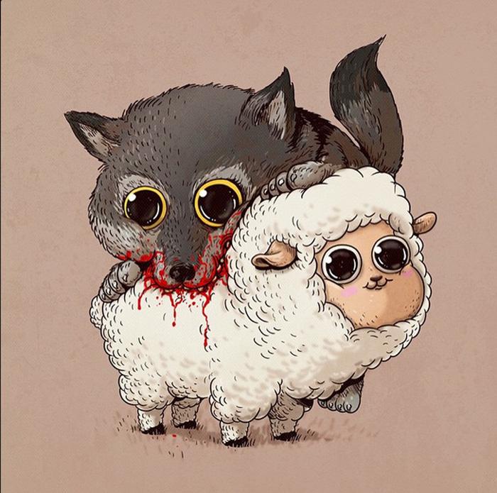 Волк и барашек.