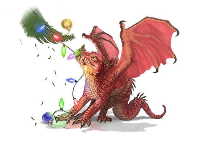Новогодний дракон.