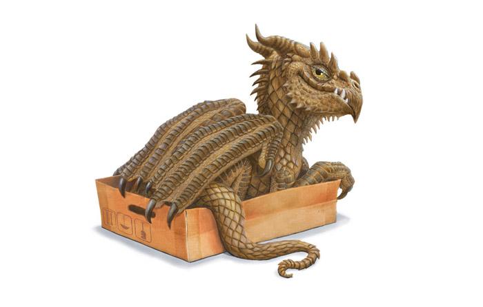 Дракончики тоже любят коробочки.