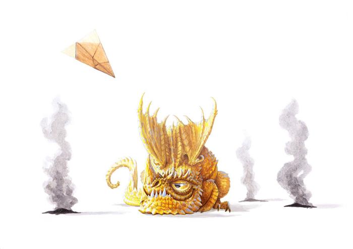 Картины с драконами от Линтона Левенгуда.
