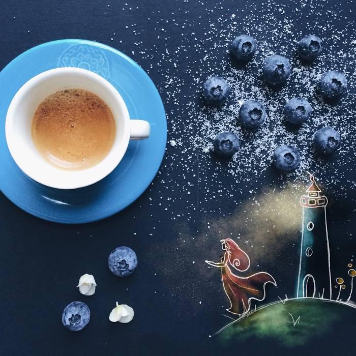 Черничная ночь. Автор: Cinzia Bolognesi.