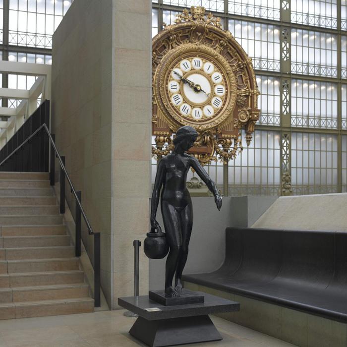 Знаменитые часы в музее.