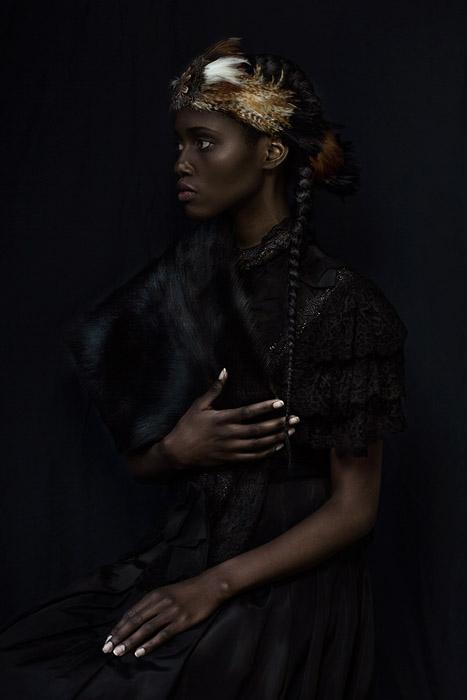Фотографии, вдохновленные историей африканской принцессы. Фото: Dagmar Van Weeghel.
