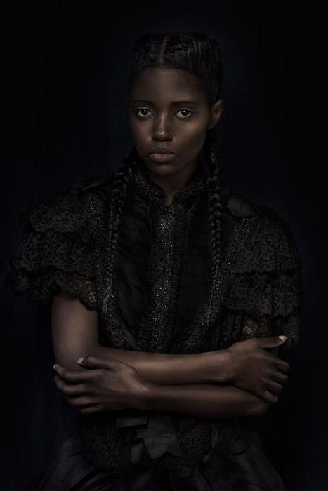 Портреты девушек из Африки. Фото: Dagmar Van Weeghel.