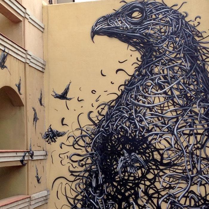 Одна из талантливых работ китайского художника DALeast.