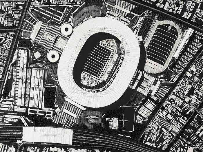 Black Scalpel Cityscapes: Рио (фрагмент полотна).