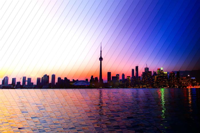 Торонто: коллаж из 40 фотографий, снятых с разницей в 1 час 53 минуты.