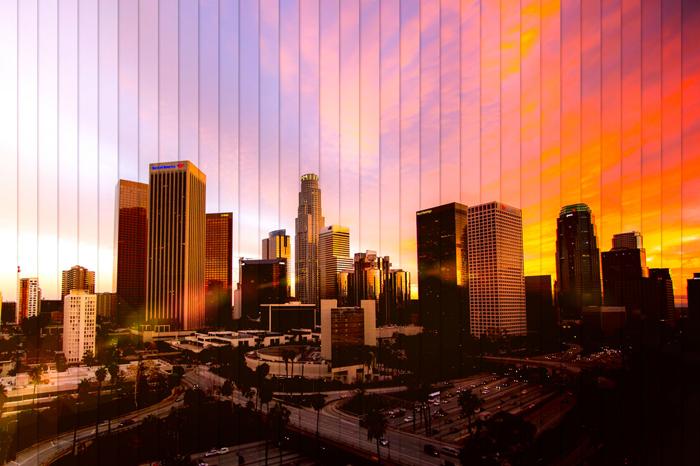 Чикаго: коллаж из 35 фотографий, снятых каждые 15 минут.