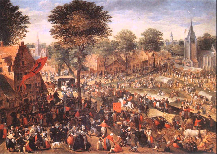 Вспышки хореомании наблюдались по всей Европе.
