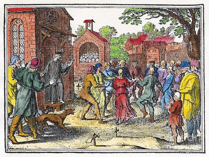 Хороводы во время чумы.