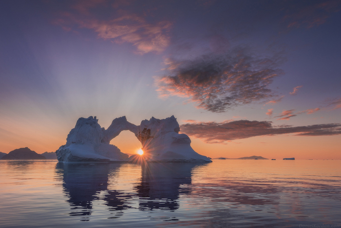 Солнце у горизонта. Автор фото: Daniel Kordan.