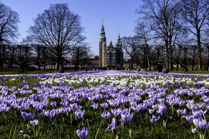 Королевский сад и замок Розенборг.