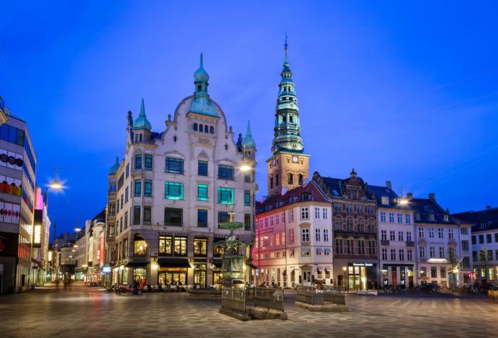 Площадь Амагеторв в Копенгагене.